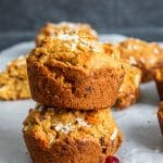 This Morning Glory Muffins Recipe is the best easy, healthy, and quick breakfast of brunch! Filled with carrots, cranberries, apples, applesauce and nuts you will love this clean eating favorite perfect for kids and adults! #Vegan #CleanEating #Healthy #Food #recipe