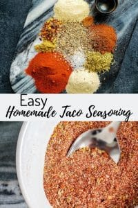 Pin image for Easy Homemade Taco Seasoning recipe.