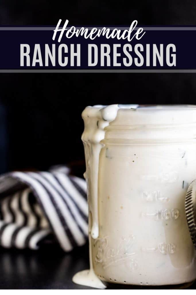Ranch Dressing Pin with single image and white text.