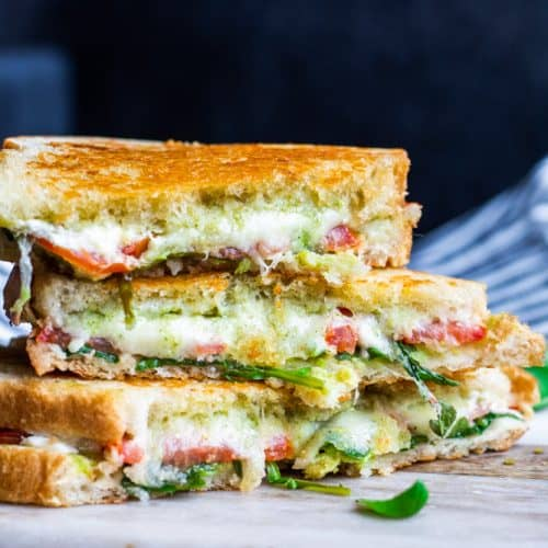 Grilled Goat Cheese Sandwich With Pesto Arugula Erhardts Eat