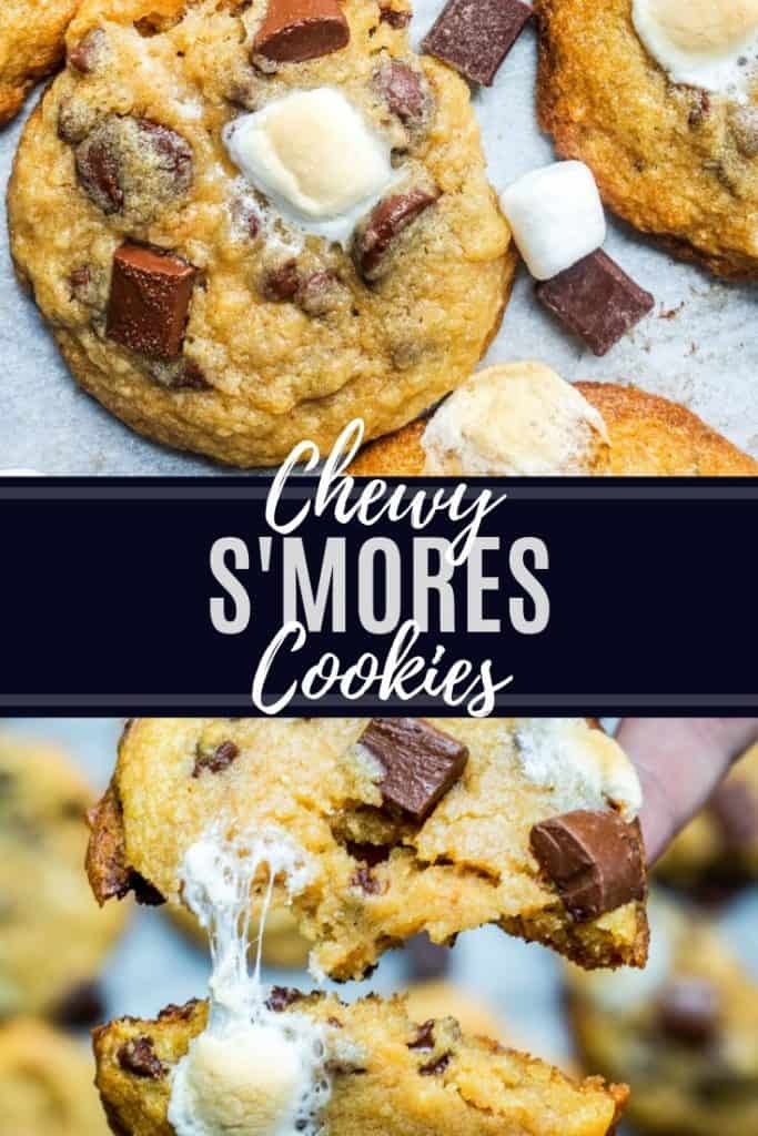 Pin image for cookies with two images and white text overlay.
