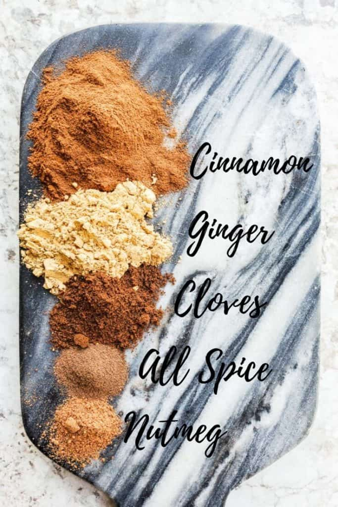 pumpkin pie spice image with spice names next to spices.