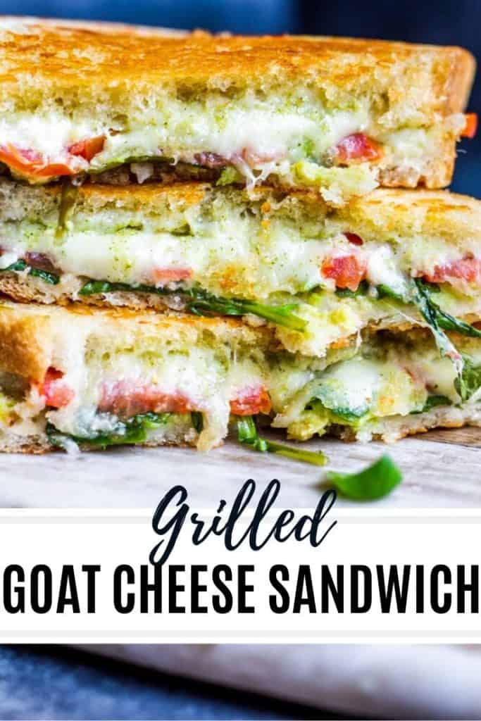 Pin for grilled goat cheese sandwich.