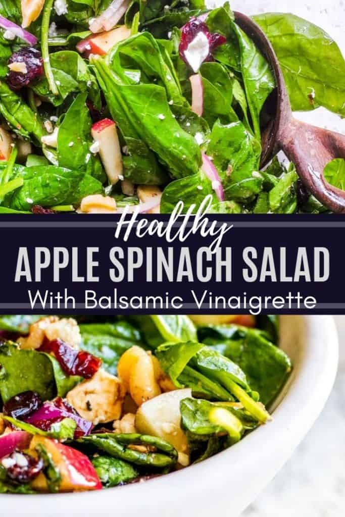 Pin for apple spinach salad.