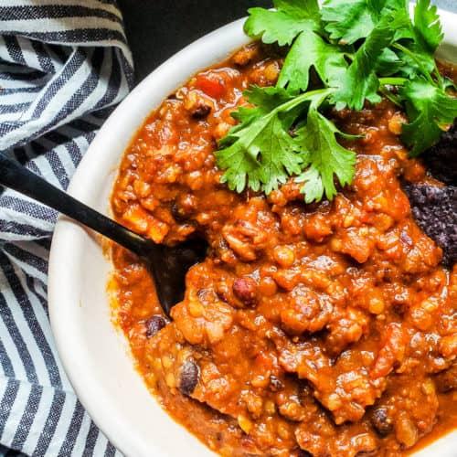 Healthy Crockpot Vegetarian Chili Recipe Erhardts Eat