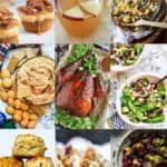 Collage of Thanksgiving recipe images.