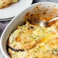 Eggplant Gratin With Feta Cheese
