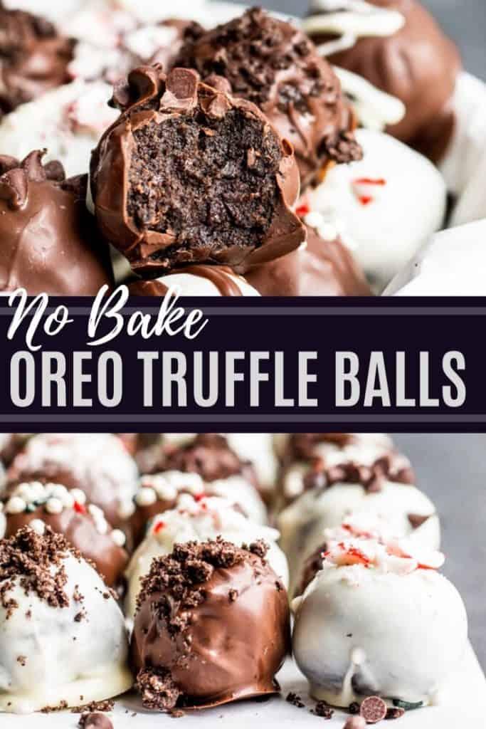 Oreo truffle balls pin 2 with white text overlay.
