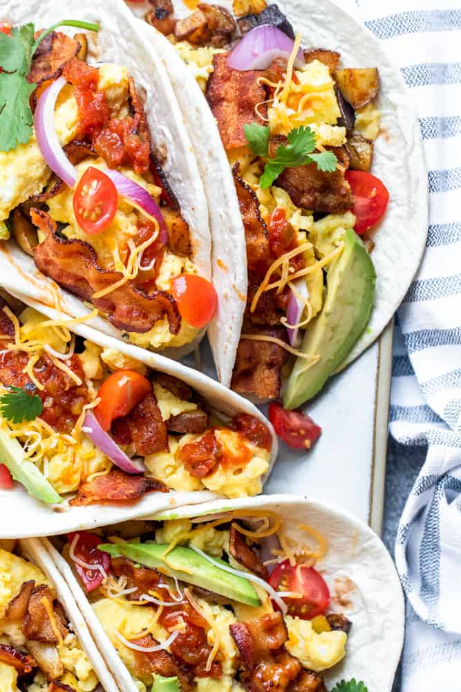 Bacon Egg Breakfast Tacos With Crispy Potatoes Erhardts Eat