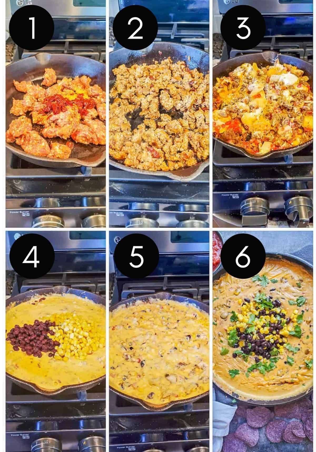 Prep image collage showing steps of dip with numbered pictures.